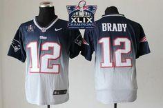 """Mary Jersey"" Nike Patriots 12 Tom Brady Navy Blue-Grey Super Bowl XLIX Champions Patch Men Stitched NFL Elite Fadeaway Fashion Jersey"