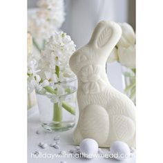 ciao! newport beach Easter Eggs, Bunnies and Flowers oh, my! ❤ liked on Polyvore featuring home, home decor, holiday decorations, backgrounds, easter, rabbit home decor, easter home decor, bunny home decor, flower home decor and flower stem