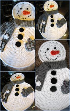 All sizes | Snowman Placemats | Flickr - Photo Sharing!