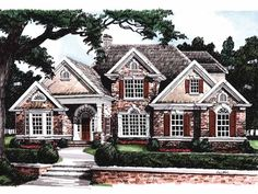 New American House Plan with 2643 Square Feet and 4 Bedrooms(s) from Dream Home Source | House Plan Code DHSW09335