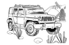 Wrangler Unlimited for the Jeep Coloring Book.