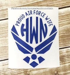 Proud Air Force Wife decal, Air Force Wife, Milspo, Decal, Air Force decal, Monogrammed, Monogram, Personalized, USAF. I Love My Airman by MonsterAndMunchkin on Etsy