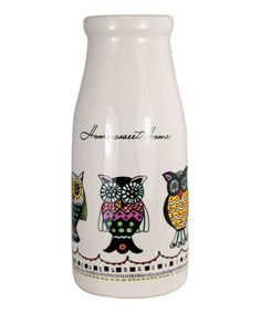 Take a look at this 'Home Sweet Home' Milk Bottle by About Face Designs on #zulily today!