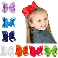 10pcs/lot New Hot Sale Hair Bows Girls Grosgrain Ribbon Hair Bows with Clips Kids hair accessoriesFree Shipping #Affiliate