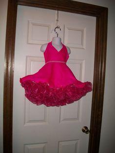 Hot Pink Princess Pageant Flower Girl Dress by PrettyInPinkDresses
