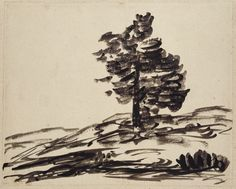 Alexander Cozens - Study of a Tree (blot drawing) Ancient Art, Abstract, Drawings, Artwork, Study, Painting, Image, Paper, Old Art
