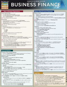 Business Finance Laminated Reference Guide #photographybusinesstips