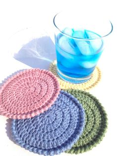 Crochet Coasters on @Etsy