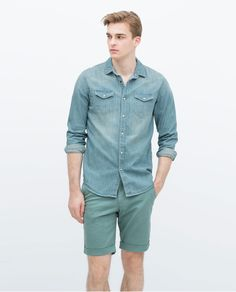 BASIC DENIM SHIRT-View all-Shirts-MAN | ZARA Philippines