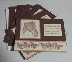Items similar to Note Cards Blank Horse on Etsy Thank U Cards, Flip Cards, Scrapbook Paper Crafts, Scrapbook Cards, Scrapbooking, Horse Cards, Stamped Christmas Cards, Making Greeting Cards, Birthday Cards For Men