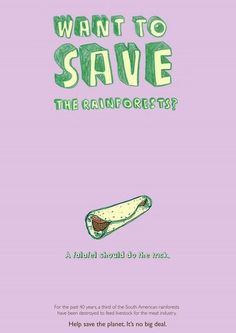 A falafel should do the trick. HAPPY COW Vegetarian pro-bono print campaign by Jonna Mayer, via Behance Vegan Memes, Vegan Quotes, Campaign Posters, Brand Campaign, South American Rainforest, Happy Cow, Pi Projects, How To Eat Less, Falafel