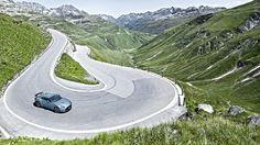 Aston Martin Zagato on the Furka Pass