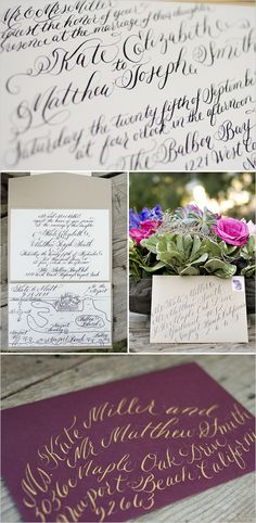 calligraphy wedding invites