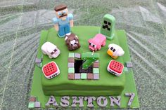 Awesome Handmade Minecraft Birthday Cake