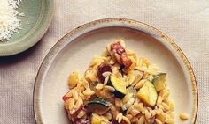 Orzo with courgettes and grana padano recipe. My favourites - pasta, veg and grana. Lamb Recipes, Veg Recipes, Italian Recipes, Cooking Recipes, Cooking Ideas, Summer Pasta Recipes, Nigel Slater, Orzo, Fabulous Foods
