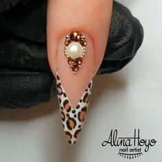 Leopard Nail Art, Cheetah Nails, Polka Dot Nails, Polka Dots, Nail Art Designs Videos, Nail Art Videos, Nail Art Diy, Diy Nails, Gorgeous Nails
