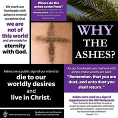 Why begin Lent with ashes? From @Archdiocese of Toronto pic.twitter.com/tdwHevq80L