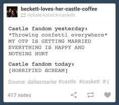 Castle season 6 finale<<<I remember watching this episode live and freaking out afterwards