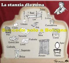 Granny Room in Bolognese dialect.   www.succedesoloabologna.it