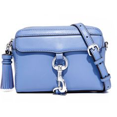Rebecca Minkoff MAB Camera Bag (4.120 CZK) ❤ liked on Polyvore featuring bags, handbags, shoulder bags, azure, leather shoulder bag, leather camera bag, leather handbags, blue leather purse and crossbody purses