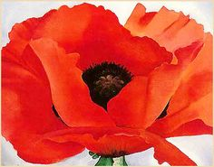 """Red Poppy"", Oil on canvas, 1927, Georgia O'Keeffe - with lesson plan!"
