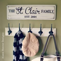 LOVE this for the entry way. Image of Personalized Family Established Sign (rectangular)