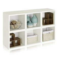 Evan Eco Stackable 6 Modular Cube Storage By Way Basics LIFETIME GUARANTEE  By Way Basics