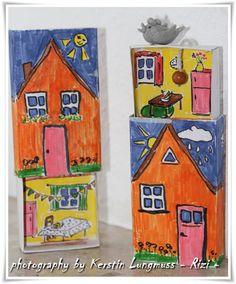 Häuser aus Streichholzschachteln