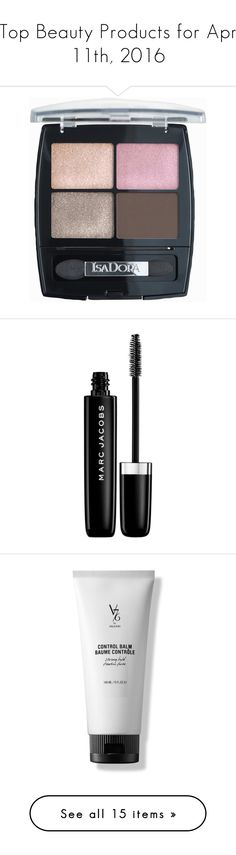 """""""Top Beauty Products for Apr 11th, 2016"""" by polyvore ❤ liked on Polyvore featuring beauty products, makeup, eye makeup, eyeshadow, beauty, nude rose, womens-fashion, isadora eyeshadow, mascara and lengthening mascara"""