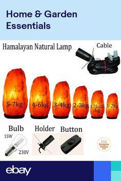 Himalayan Rock Salt Lamp, Himalayan Salt Crystals, Lounge Lighting, Bedside Lighting, Globe Lamps, Globe Lights, Salt Crystal Lamps, Natural Lamps, Bubble Fish