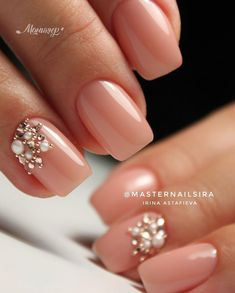 Pretty nail inspiration, nail art design ideas, Ombre pink nails,fade nails in 2020 Natural Wedding Nails, Simple Wedding Nails, Wedding Nails Design, Bridal Nails Designs, Natural Nails, Perfect Nails, Gorgeous Nails, Pretty Nails, Faded Nails