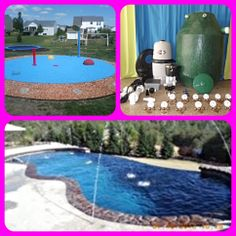 My Splash Pad residential backyard splash park install, DIY splash pad kit and add dimension to your swimming pool with nozzles.