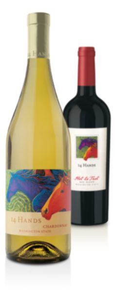 """14 Hands  """"Hot to Trot"""" ... Wonderful blend of four different types of grapes."""