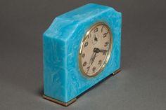 Art Deco Seth Thomas Catalin Bakelite Clock in Azure Blue | Clocks ...