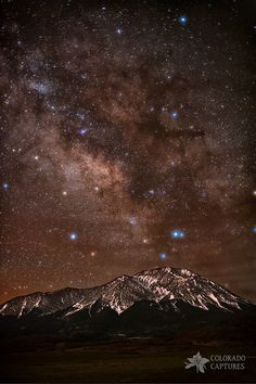 La Veta, Colorado, USA~Diffused Milk Over The Spanish Peaks   ~ There's something really unique about the results of diffused light in front of starry skies - in this case, the Milky Way. I really like the color variation the stars show anyway, but the diffusion I saw coming from a thin layer of clouds seemed to exaggerate the glow from the brighter stars even more.