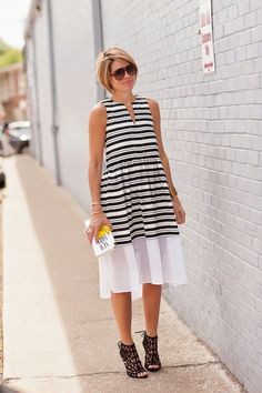 Bw stripes dress