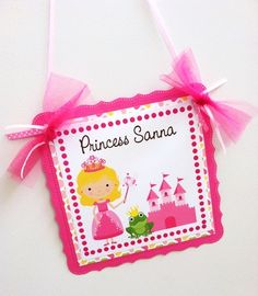 Princess Welcome Door Sign for Birthday Party Gorgeous & 30% off on Cyber Monday, Dec 1st 2014 - among 50+ other shops that are part of huge #storenvyFlash30 sale - details here: http://luanded.blogspot.com/p/storenvy-cyber-monday-flash-sale.html