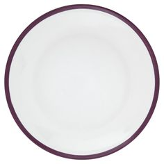 Side Plate White/Purple at wilko.com