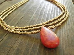 I really like this coral necklace. My Mom bought me a similar necklace for my birthday and I love it!