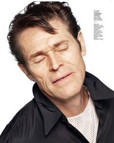 Willem Dafoe for M Le Monde Magazine with styling by Aleksandra Woroniecka