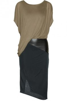 Classic pencil skirt option in draping fabric.