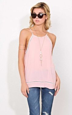 #FashionVault #styles for less #Women #Tops - Check this : Petunia Eyelet Necklace Top - - Blush in Size by Styles For Less for $21.99 USD