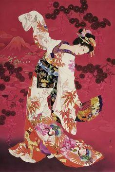 watercolor by joyce h kamakuri of japanese geisha - Bing images Japanese Illustration, Illustration Art, Illustrations, Geisha Art, Japanese Artwork, Japanese Geisha, Tropical Art, Japan Art, Japanese Artists