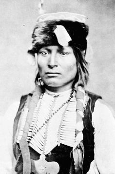 Lone Wolf (Mamay-day-te), Kiowa chief. Photograph by William S. Soule, 1870s.