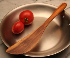 wood spatula | Wooden saute spatula carved from wood salvaged from an Apple tree from ...