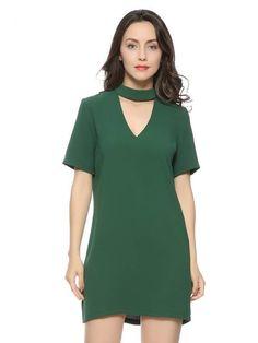 Vestido Básico Decote Choker - Compre Online | DMS Boutique
