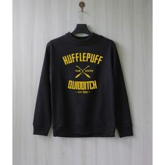 Hufflepuff Quidditch Harry Potter Shirt Sweatshirt Sweater Shirt Size... ❤ liked on Polyvore featuring tops, hoodies, sweatshirts and shirt top