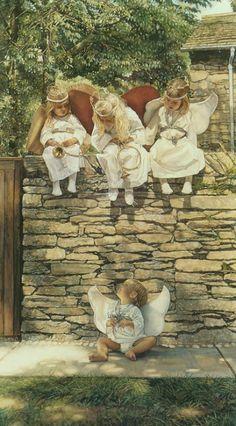 The Newest Angel. Steve Hanks - Watercolour Art