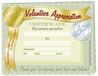 Thank you certificates for volunteers thiscertificate signed by volunteer certificate yadclub Images