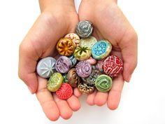 Ceramic Jewelry, Ceramic Beads, Clay Beads, Polymer Beads, Clay Jewelry, Hamsa, Mosaic Flowers, Mosaic Pieces, Mixed Media Jewelry